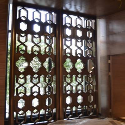 别墅不锈钢装饰专用 拉丝玫瑰金屏风隔断
