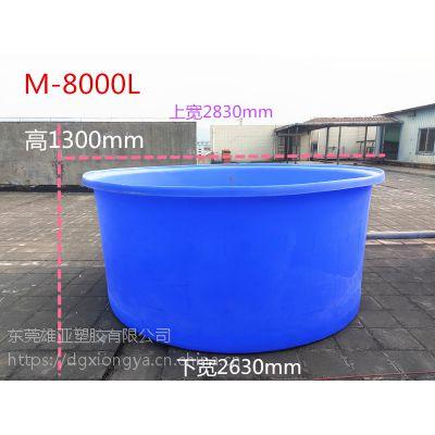 雄亚塑胶 大型塑料圆桶 加厚圆形桶M-8000L 敞口 养殖工业行