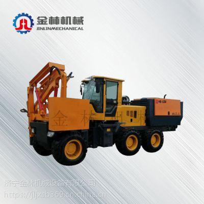 中国山东省新品热销装载式打拔钻一体机 生产路面护栏打桩机