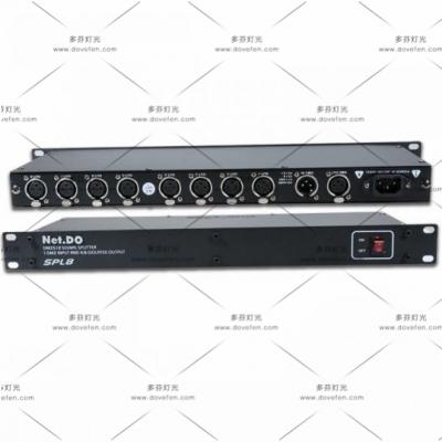 SPL8(8路隔离DMX信号分配器)8路信号放大器 8路信号分配器