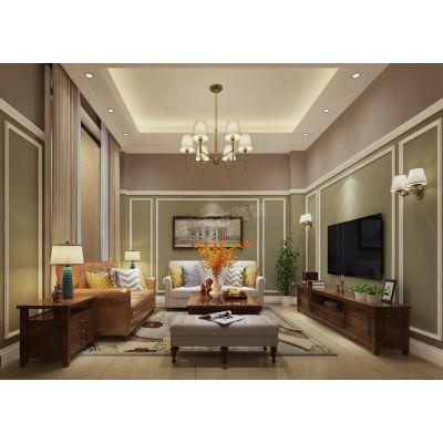 协信溪山墅装修案例,天古装饰别墅设计,新中式别墅风格欣赏