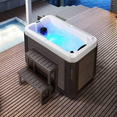 江苏奕华卫浴1800*1050*800mm新款浴缸独立式亚克力spa按摩浴缸冲浪户外浴缸浴池