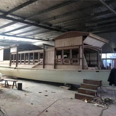 广西桂林木船厂家定制8米防腐景观红船