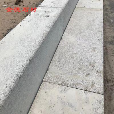 弯道路沿石价格 异形大理石路沿石图片