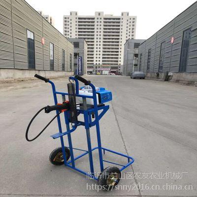 多用途果园施肥挖坑机 单人操作开沟机除草机 汽油打坑机