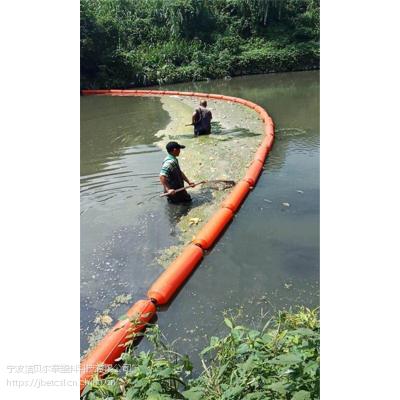 水面浮萍拦截浮带设备聚乙烯拦污栅浮筒厂家
