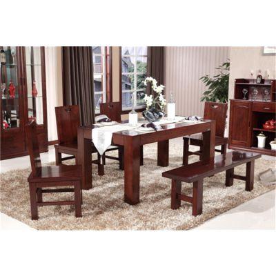 供应山东木言木语全实木中式餐桌椅爆款热销
