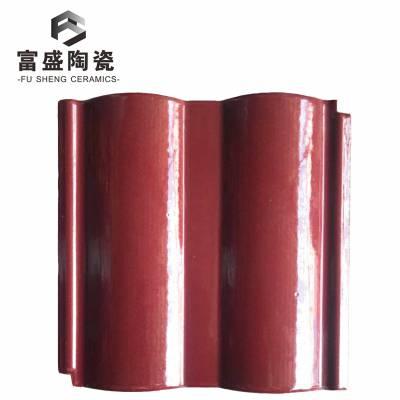 山东淄博双曲瓦200*200规格玫瑰红色