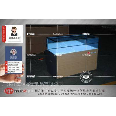 华为新款手机柜华为3.5版玻璃封闭式手机柜台订购厂家