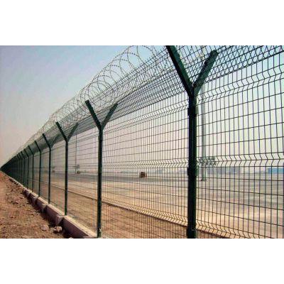 河北赛喆丝网品牌2.5米高镀锌浸塑机场护栏网
