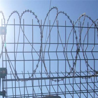 监狱防护刺丝滚笼 喷塑刺丝滚笼 高铁刺丝滚笼