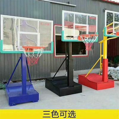 清远仿液压电动液压篮球架 方管篮球架厂家设备