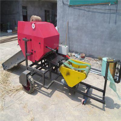 玉米秸秆储存打捆机 密封草捆密实度包膜机 中泰机械