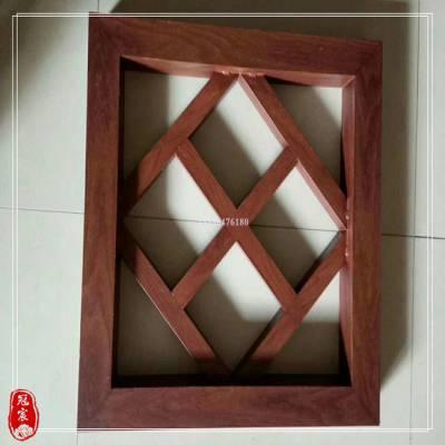 不锈钢简约中式屏风 仿木纹金属镂空屏风 园林项目定制