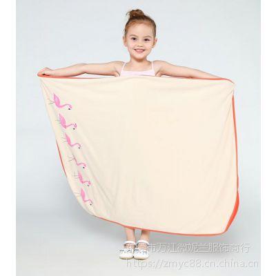 东莞供应精品工艺印花粉红色可爱婴童婴童毛巾被家居毯巾浴巾毛巾全棉包边78*106cm