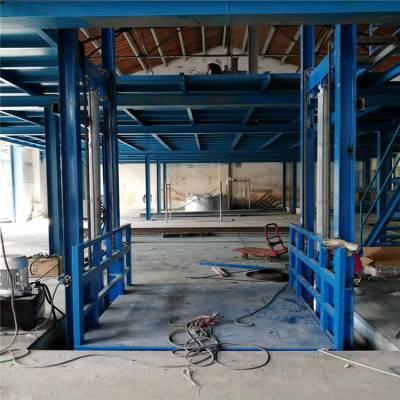 济宁市恒久机械定做导轨式升降货梯尺寸标准 500千克专用升降货梯