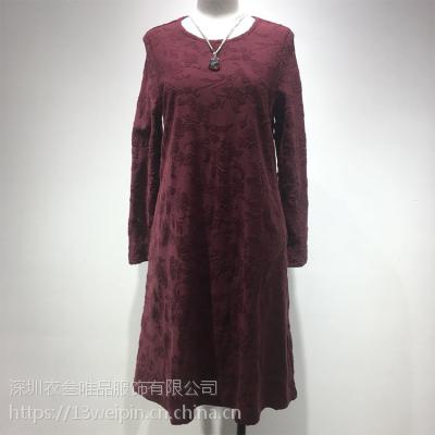 北京休闲高端品牌都兰女装专柜***衣叁唯品折扣走份出货