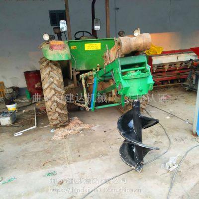 埋桩建筑电线杆挖坑机 苗圃挖坑机