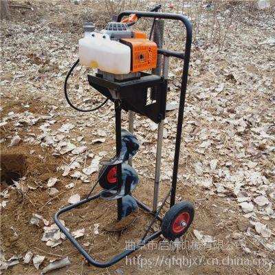 启航 山地植树打洞机 施工立柱钻眼机 林业施肥挖坑机