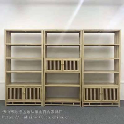 客厅玄关中式风格实木柜子实木书架柜子摆放架可定制