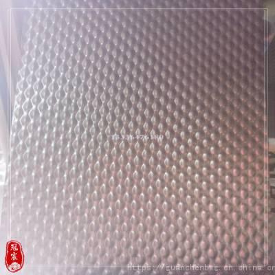 304不锈钢钛金大蜂窝冲压 厂家直销201玫瑰金压花板