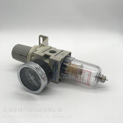 SMC型灰白AW2000-02调压过滤器气动元件气源处理器