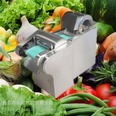 启硕机械生产厚薄均匀 甘蔗马铃薯切片机 杏鲍菇黄瓜切片机视频