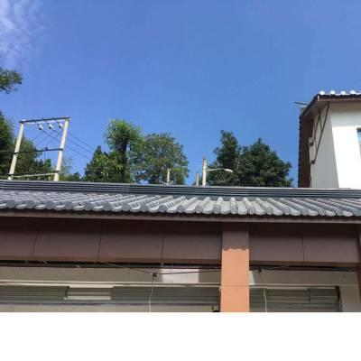 0.3-0.6厚黑色磨砂彩钢琉璃瓦768型 彩钢仿古瓦,金属琉璃瓦 新农村屋面铝镁锰琉璃瓦