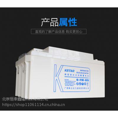 科士达(KSTAR) 12V65AH铅酸蓄电池 UPS不间断电源 6-FM-65 免维护电池