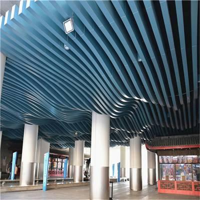 街区改造造形铝方通美丽装饰效果