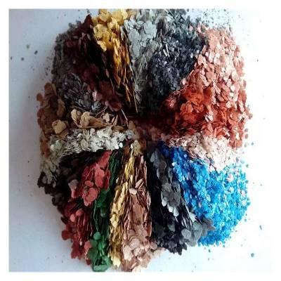 万运厂家供应 多彩岩片 岩片 彩色复合岩片 颜色齐全