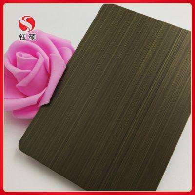 黄古铜深褐色不锈钢板 不锈钢仿古铜板 黑钛金不锈钢板价格