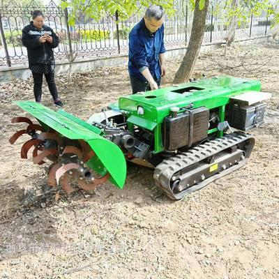 智航甘蔗大葱培土回填机 履带式开沟培土一体化 茶园果园多功能开沟旋耕机