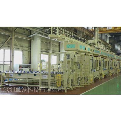 汽车配件后羊角转向节CNC加工自动上下料桁架机器人生产线 车床机械手厂家  数控车床机械手价格