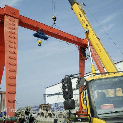 安徽亳州2.9吨门式起重机,宇起牌行车龙门吊