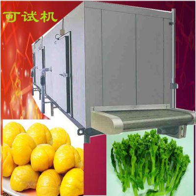 王氏热销大虾隧道式速冻机 薯条快速速冻机器 薯条加工成套设备