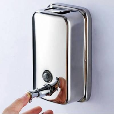 800毫升竖式明装肥皂液器 壁挂式洗手液盒佳悦鑫不锈钢皂液机JY-122厂家批发