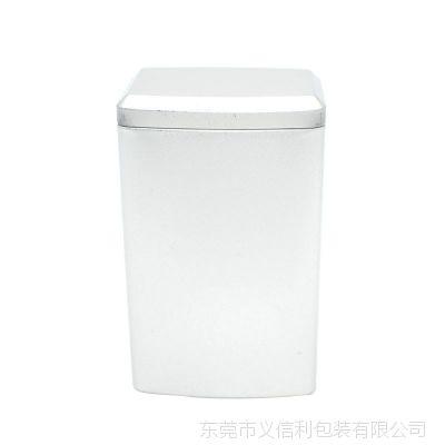 马口铁茶叶罐 长方形内塞盖铁盒定制 异形三七粉当归粉铁罐子
