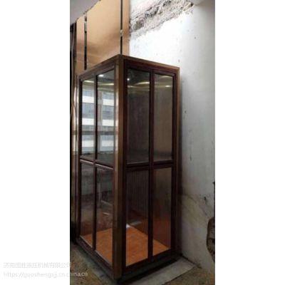 盐城定做家用液压升降电梯 室内两层家用电梯 无噪音升降机 国胜厂家直销