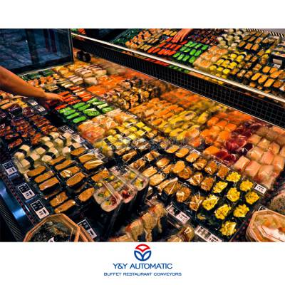 广州昱洋膜式热收缩封口包装机_不锈钢半自动外卖食品包装设备