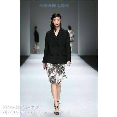 颜诺深圳一线原创设计师女装19春新款衣叁唯品品牌折扣走份***