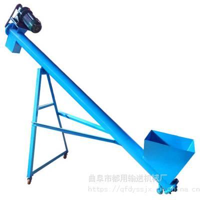 新型自动化圆管螺旋提升机_玉米稻谷升降可调型提升机报价