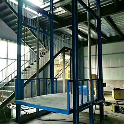 威海市恒久机械定做液压式升降货梯尺寸标准 库房标准尺寸升降平台