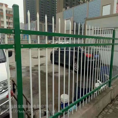 河南厂家供应锌钢围墙护栏 小区庭院铸铁隔离围栏 别墅铁艺围墙栅栏定做