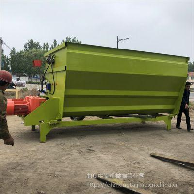 打碎玉米秸秆牧草的tmr搅拌机 养殖场解决人工拌料的双轴拌料机 中泰机械