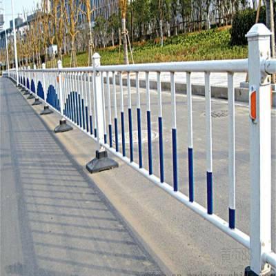 新力金属制品-城市道路隔离栏_道路中间蓝白色道路护栏、质量标准优等、价格不贵