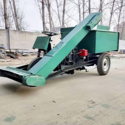 运输屎粪柴油清粪车 自走式牛场清粪机结构 润丰机械刮粪车系列