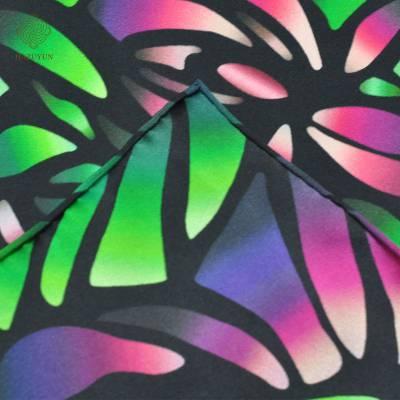 加工定制服装围巾特殊印花真丝素绉缎双面印花面料