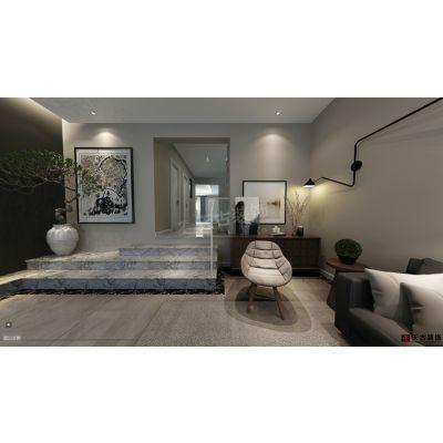 融创尊爵堡装修设计,重庆联排别墅设计天古装饰公司案例,现代简约