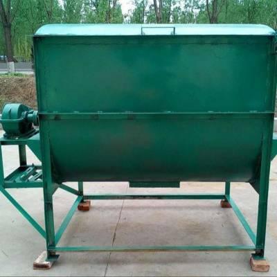 多功能饲养场专用搅拌机 300公斤饲料搅拌机价格 定做双轴搅拌混料机